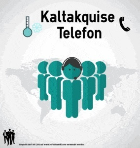 Kaltakquise Telefon Infografik Titel Infoseite