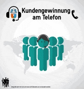 Kundengewinnung am Telefon Infografik Titel Infoseite