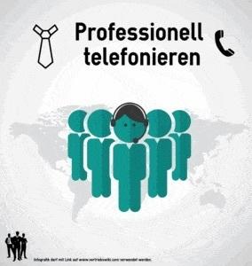 Professionell telefonieren Infografik Titel Infoseite