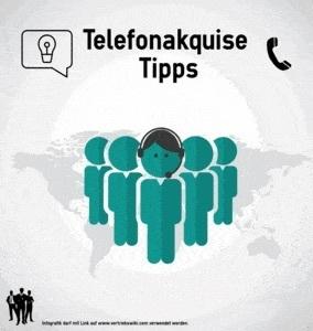 Telefonakquise Tipps Infobild für Telefonverkäufer