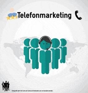 Telefonmarketing Infografik Titel Infoseite