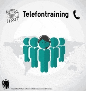 Telefontraining Infografik Titel Infoseite