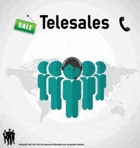 Telesales Infografik Titel Infoseite