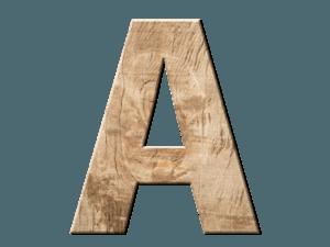 A aus Holz repräsentiert das ABC Kundenanalyse System