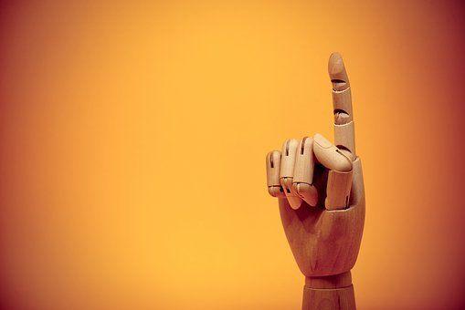 Finger, Zeigefinger, Geste, Bis, Hinweis