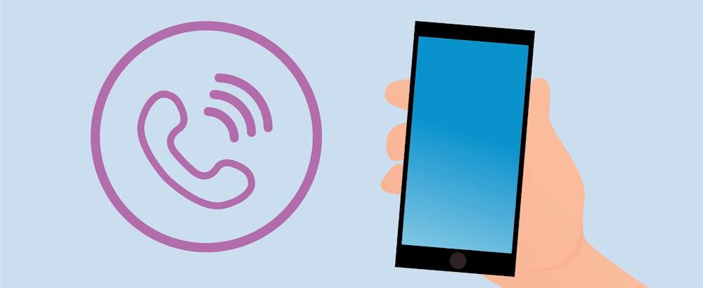 Ein Anruf kommt rein, Comic Stil, Smartphone, Hand, Anrufsymbol